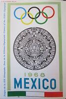 Mexique Jeux Olympiques De Mexico 1968 Reprodution Affiche