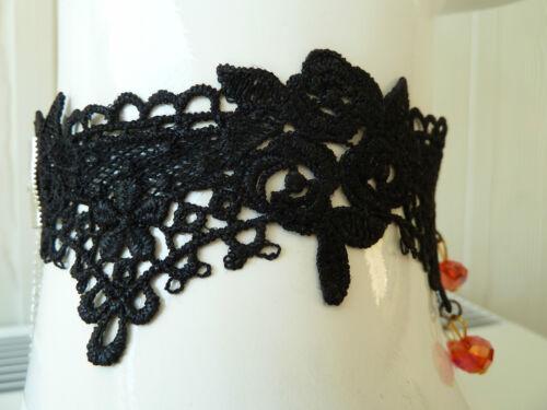BLACK LACE Choker//necklace.Vintage-Retro-Goth-Emo.Wedding Party,Fancy dress.C006