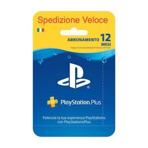 PlayStation Plus 12 Mesi Italia -invio Veloce codice tramite mail -NO SPEDIZIONE