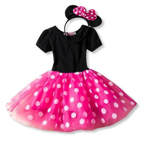 Princess Minnie Mouse Tulle Dress Party Baby Toddler Girls Fancy Cosplay Kids