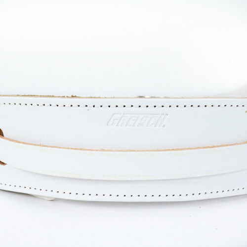 Gretsch Deluxe Leather Vintage Style Guitar Bass Adjustable Strap White