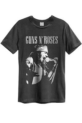 Gut Ausgebildete Amplified - Guns N Roses Axel Rose Profile Herren T-shirt (grau) (s-xl) Bequemes GefüHl