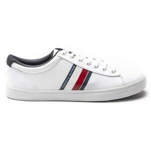 Rechazar Estacionario Relativo  Nuevo Para Hombre Tommy Hilfiger White Stripes Textil Zapatillas Plimsolls  Encaje esencial | eBay