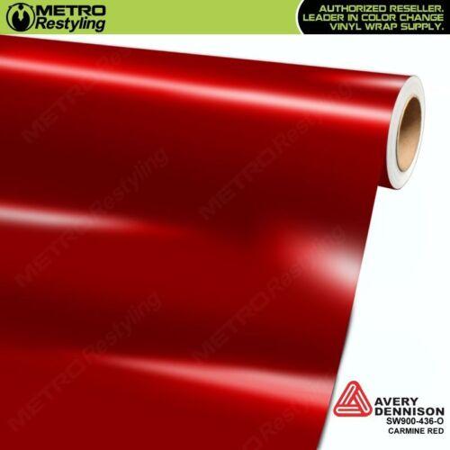 Avery Supreme GLOSS CARMINE RED Vinyl Vehicle Car Wrap Film Roll SW900-436-O