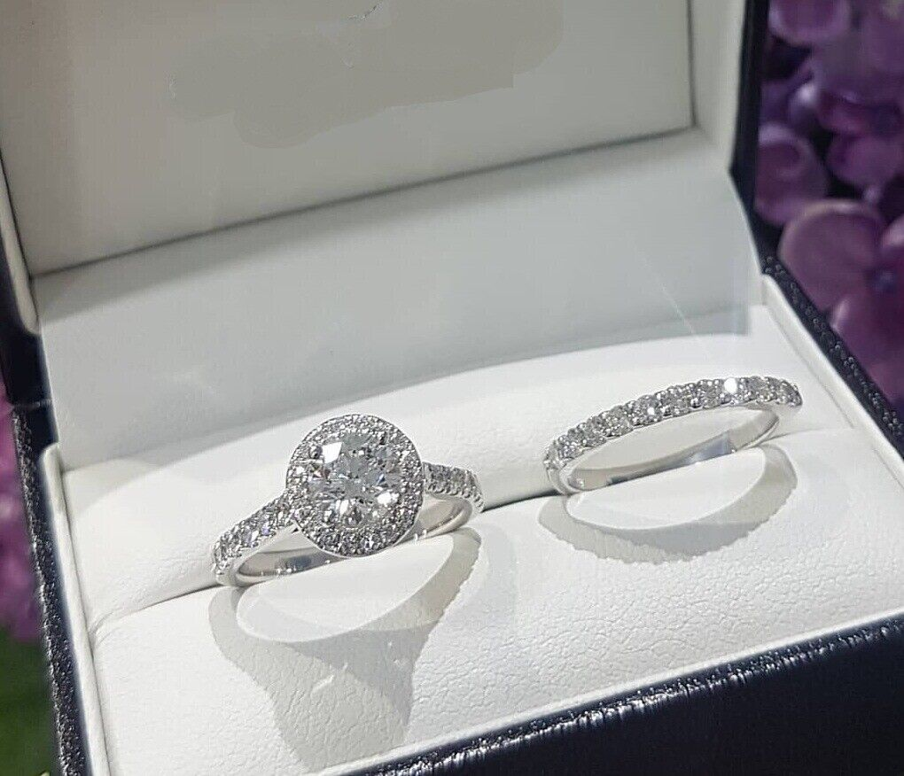 1.68 Ct Diamond Wedding Bridal Ring Set