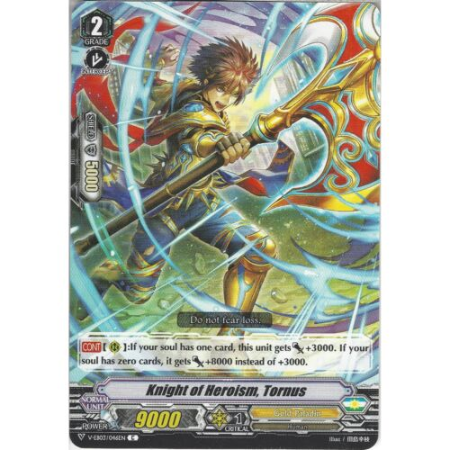 Common Card Cardfight Vanguard TCG: Knight of Heroism V-EB03//046EN C Tornus
