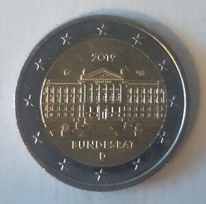 2 Euro Commémorative Allemagne 2019-Bundesrat Atelier G-UNC Qualité FDC