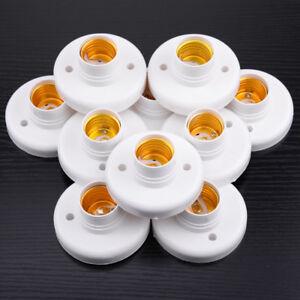 10x-E27-6A-Lampenfassung-Sockel-Deckenfassung-Birnenfassung-LED-Lampe-Halter-Neu