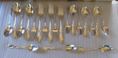 4 Wm A Rogers Oneida Ltd Old South Silverplate Flatware Dinner Forks
