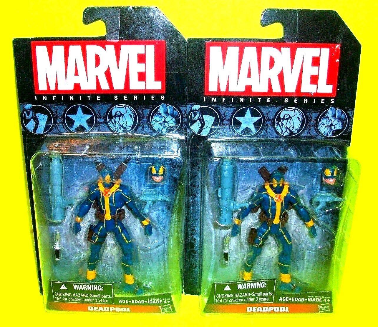 DEADPOOL ERROR  Marvel Infinite Series X-Sie Pair ACTION FIGURES Missing SWORDS