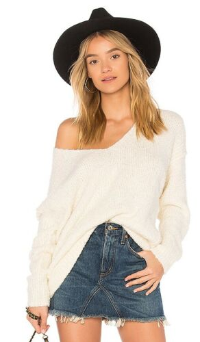Free People REVOLVE White Lofty Pullover S