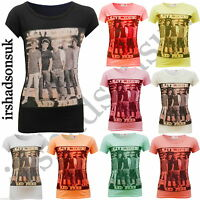 """NEW GIRLS ONE DIRECTION """"LIVE YOUNG AND FREE"""" SHORT SLEEVE FASHION T SHIRT 7-13Y"""