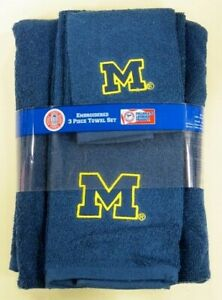 Michigan-Wolverines-University-3pc-College-Bath-Towel-Set-by-Northwest-Co