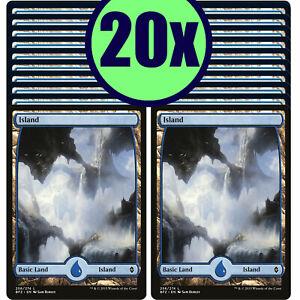 20x ISLAND 256 Full Art Basic Land NM/LP MTG Magic Battle for Zendikar