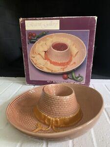 Vintage Ceramic Hat Chip And Dip Bowl Mexican Fiesta Sombrero Hat Cinco De Mayo Ebay