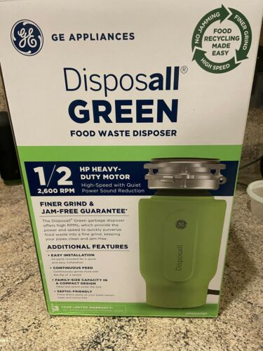 GREENO5P 1//2 HP Heavy Duty 2,600 RPM Food Disposer General Electric Disposall
