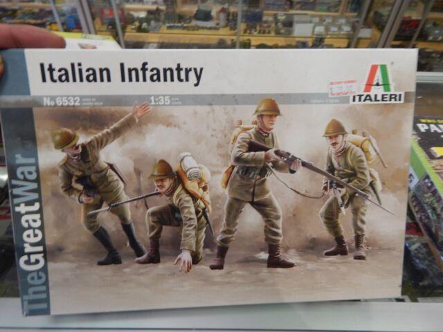 Italeri 1/35 scale plastic model kit World War 1 Italian Infantry 4 figures