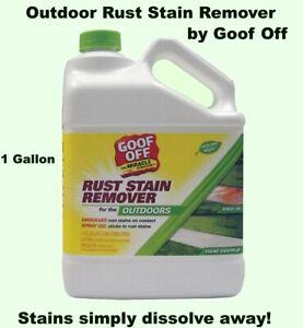 Concrete Stain Remover >> Details About Outdoor Rust Stain Remover 1 Gallon Jug Concrete Stucco Wood Fiberglass Brick