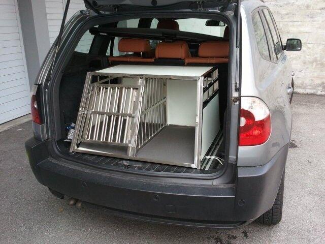 Cani trasportino per cani per doppelbox XXL con griglia-separazione (A-C-XXL-SEP)