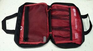 First Aid Kit Pouch/Box/Bag Empty w/ Zipper Red w/ Black Johnson (Emergency)