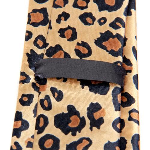 Unisex Mens Slim Skinny Narrow Necktie Neck Tie Leopard Animal Print Pattern