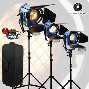 Image is loading As-Arri-For-Film-300-650-1000W-Fresnel- & As Arri For Film 300/650/1000W Fresnel Tungsten Spot lighting+case+ ...