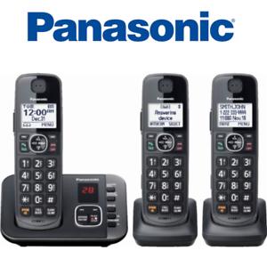 Panasonic-KX-TGE633M-3-handset-DECT-6-0-Expandable-Cordless-Phone-answering