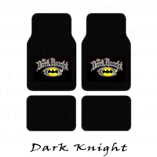DC Comics Batman//Superman Emblem Logo Car Floor Mats 4pcs Set