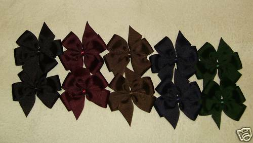 """/""""10 SMALL BOUTIQUE HAIRBOWS/"""" Bold"""