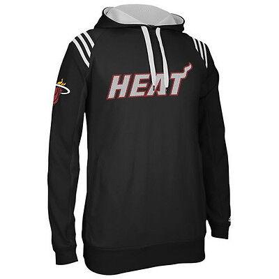 Miami Heat MENS Sweatshirt Pullover Hood 3-Stripe by Adidas NWT