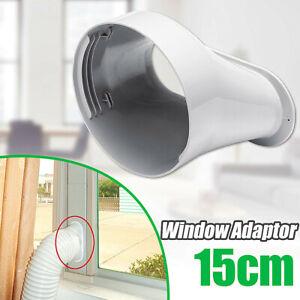 150mm 6/'/' Fenster Adapter PVC für Mobil Klimagerät Abluftschlauch Klimaanlagen