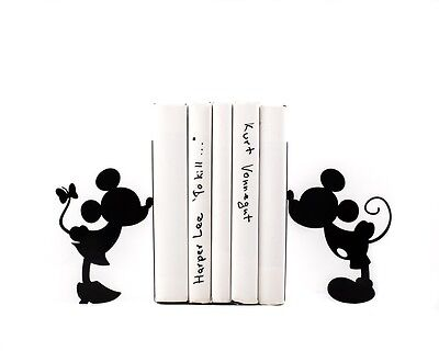Iron Black Black Cartoon Mickey Mouse Ironwork Nonskid Bookends for Children