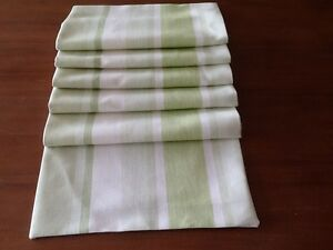 Image Is Loading Laura Ashley Awning Stripe In Apple Table Runner