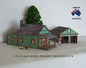 Ho scale country house with 3d garage model railway for 3d garage builder
