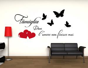 Adesivo famiglia Muro stickers murale alta durata alta qualità 2 colori