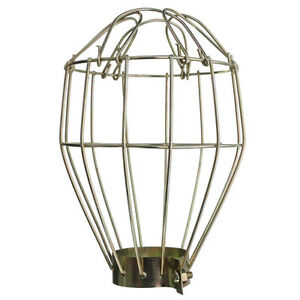 iron wire bulb cage clamp on metal lamp guard vintage trouble lights industri. Black Bedroom Furniture Sets. Home Design Ideas