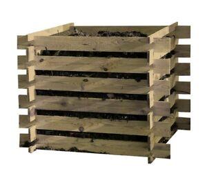 Komposter Holz Kompostbehälter 100x100x70 Kompostsilo Kompost Steckkomposter