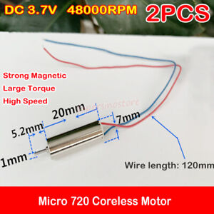 details about 2pcs dc 3 7v 48000rpm micro 720 coreless motor high speed rc  drone quadcopter