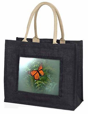 rot Schmetterling im Nebel große schwarze Einkaufstasche Weihnachtsgeschenk I,