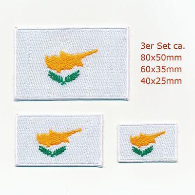 3 Zypern Flaggen Nikosia Flags Insel Patches Aufnäher Aufbügler Set 100 GroßE Sorten