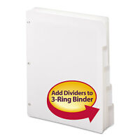 Smead Three-ring Binder Index Divider 5-tab White 89415 on sale