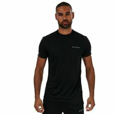 Men's McKenzie Axton Poly Standard Fit T-Shirt and Shorts Set in Black