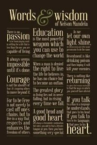 nelson mandela words wisdom quotes x poster courage