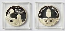 5000 Forint Ungarn Silbermünze 925 Silber Olympia 2008 Peking Wasserball + COA
