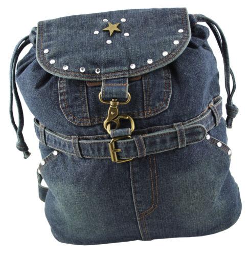 Bleu 04 Western Sac Avec Foncé Strass Dos speicher Éléments Swarovski Jeans À x4qngWXrH4
