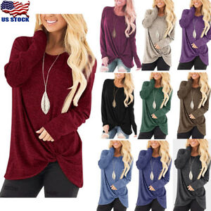 Women-039-s-Autumn-Sweater-Crew-Neck-Long-Sleeve-Casual-Loose-Pullover-Jumper-Blouse