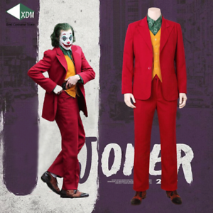 2019Joker-Cosplay-Costume-Clown-Halloween-Party-Joker-Movie-Uniform-Suit-Wig-Set