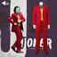2019Joker-Cosplay-Costume-Clown-Halloween-Party-Joker-Movie-Uniform-Suit-Wig-Set thumbnail 1