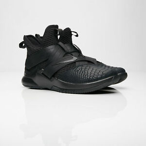 5fa77e62af39 Image is loading Nike-Lebron-Soldier-12-XII-SFG-Triple-Black-