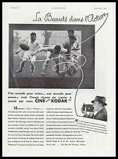 PUBLICITE  CINE KODAK CAMERA PROJECTEUR CINEMA FILM MATCH DE RUGBY  AD  1932